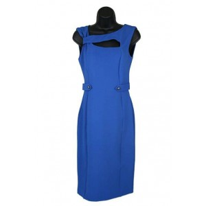 Sexy silhouette ponte cut out blue dress.