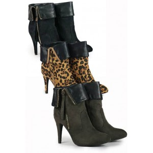 Ana Lublin elegant ankle boots with stiletto heel and cuffs