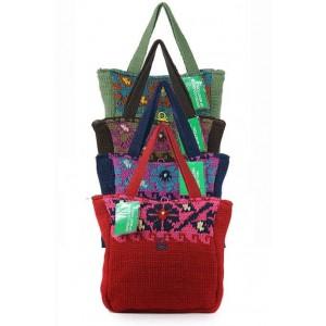 Benetton Borsa woven fabric contrast design bag.