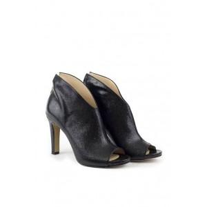 Versace 19.69 leather black heel shoes.