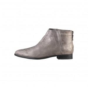 Arnaldo Toscani silver glittery leather ankle boots