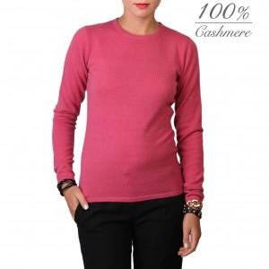 Fontana 2.0 100% cashmere crew-neck coral pullover.