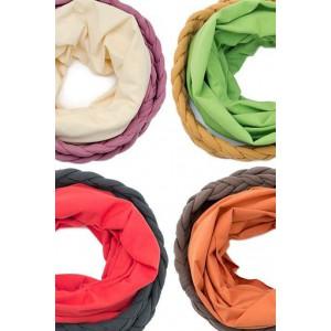 Ekosan fashionable cotton scarf tube and braid