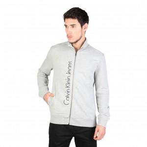 Calvin Klein men's grey trendy zip sweatshirt