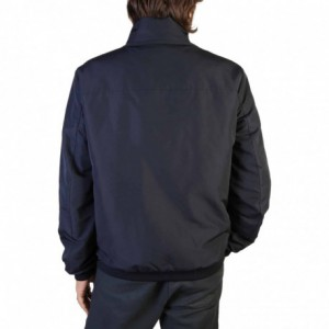 Blue fashion double handle fringe tote.