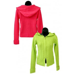 Ladies Hoi Polloi Hoody Knit Cardigan.
