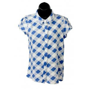 Emadora ladies check short sleeve shirt.