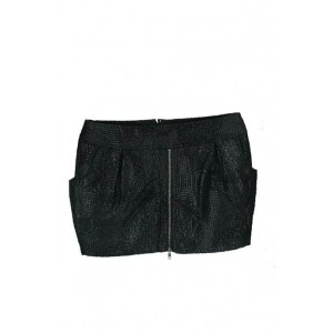 Emadora embossed zip mini pocketed skirt.