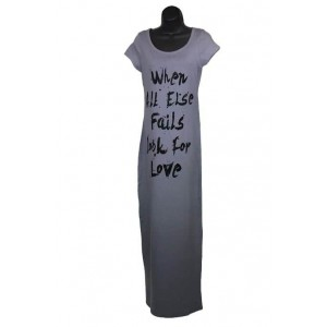 Fashion Pride ladies short sleeve maxi dress with print.