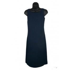 Ladies AYC by Joshua Faulk pin stripe crepe shift dress.