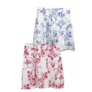 Blu Aqua ladies floral pleat skirt.