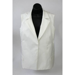 Grace Elements luxury sateen sleeveless jacket.