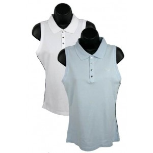 Ladies Calvin Klein Performance sleeveless polos.