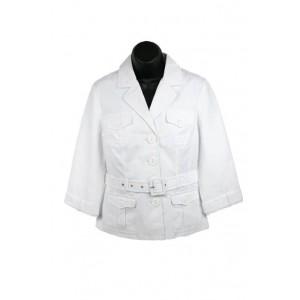 Ladies beautiful Principles belted white jacket.