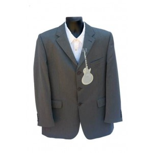 Mens Outrage trendy charcoal jacket.