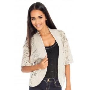 Goddess London drop shoulder lacy knit shrug.