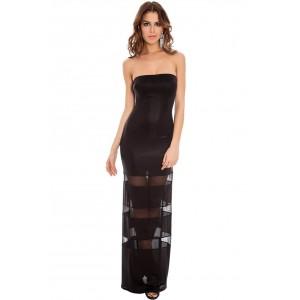 Goddess London mesh insert bandaue sexy maxi dress