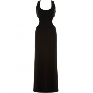 Goddess London cut out neon tube maxi dress