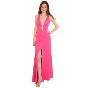 Goddess London backless Glam maxi in the style of Rihanne