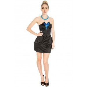 Goddess London crinoline dress with sequin heart