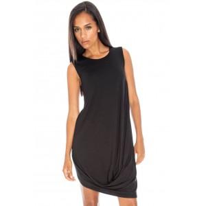 Goddess London sleeveless drape jersey dress