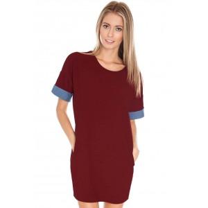 Goddess London chambray contrast sleeve tunic