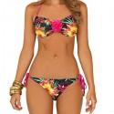 Boutique foil tropical flower bandeau 3D flower