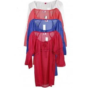 Boutique cotton bell sleeve lace detail kaftan