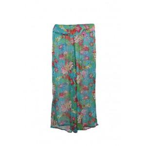 Boutique polychiffon tropical flower palazzo pants